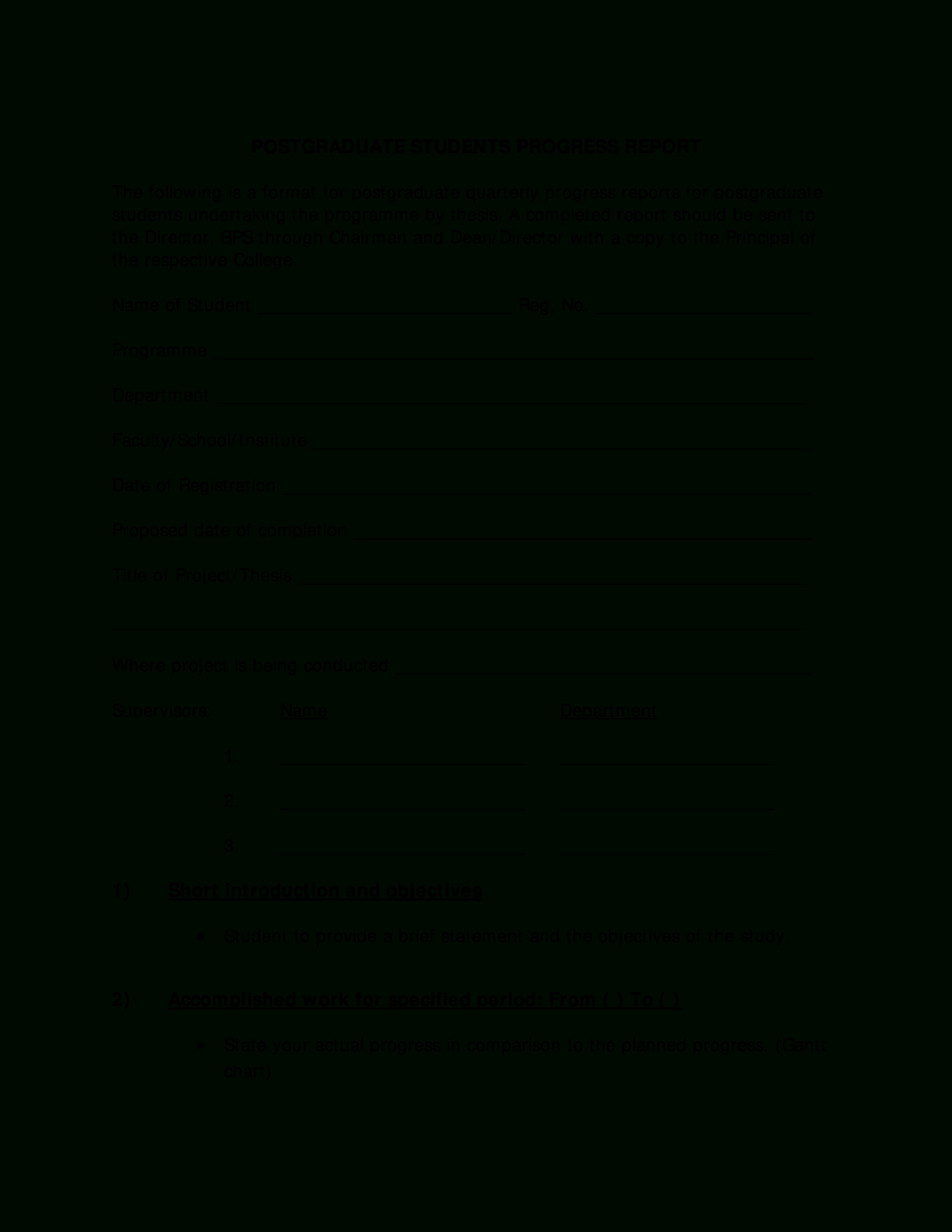 Student Progress Report Example | Templates At pertaining to Educational Progress Report Template