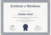 Students Attendance Certificate Template within Conference Certificate Of Attendance Template