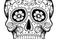 Sugar Skull Drawing Template | Free Download Best Sugar within Blank Sugar Skull Template