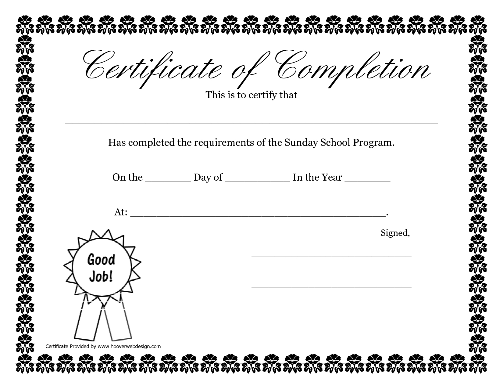 Sunday School Promotion Day Certificates | Sunday School in Free Printable Certificate Templates For Kids