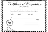 Sunday School Promotion Day Certificates | Sunday School in School Certificate Templates Free