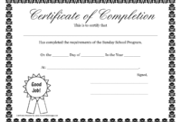 Sunday School Promotion Day Certificates   Sunday School with regard to Certificate Templates For School