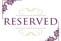 Superb Reserved Signs For Tables | Reserved Wedding Signs pertaining to Reserved Cards For Tables Templates
