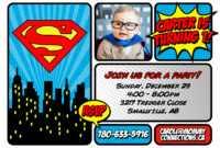 Superman Birthday Invitation Ideas — Metal Decorations From pertaining to Superman Birthday Card Template