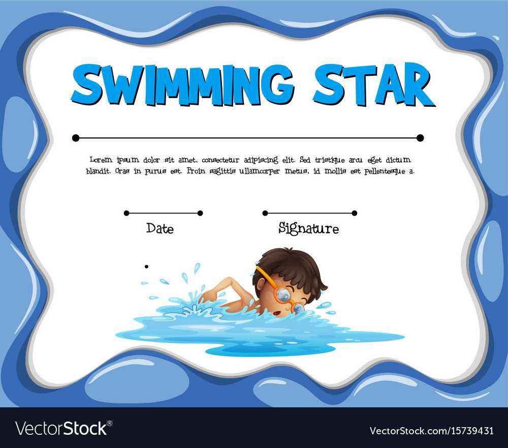 Swimming Star Certification Template With Swimmer With Free Swimming Certificate Templates