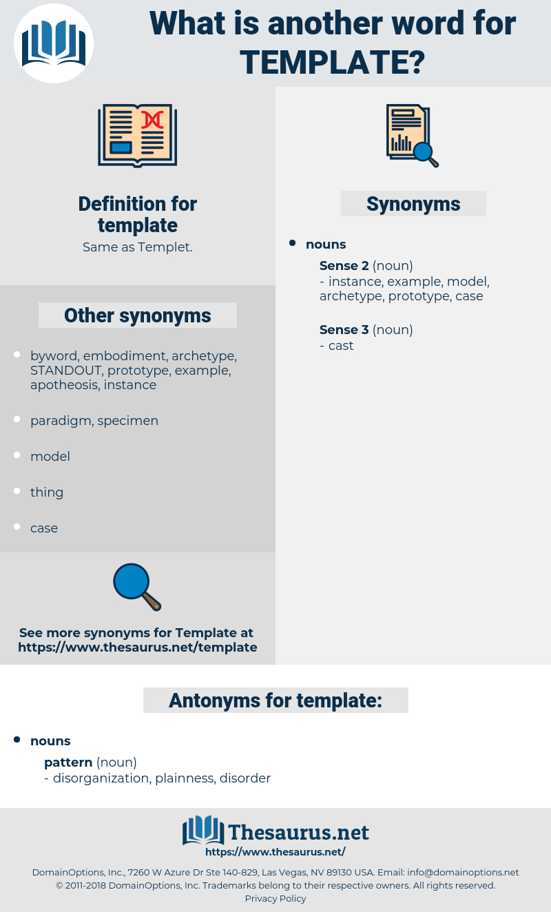 Synonyms For Template, Antonyms For Template - Thesaurus Throughout Another Word For Template