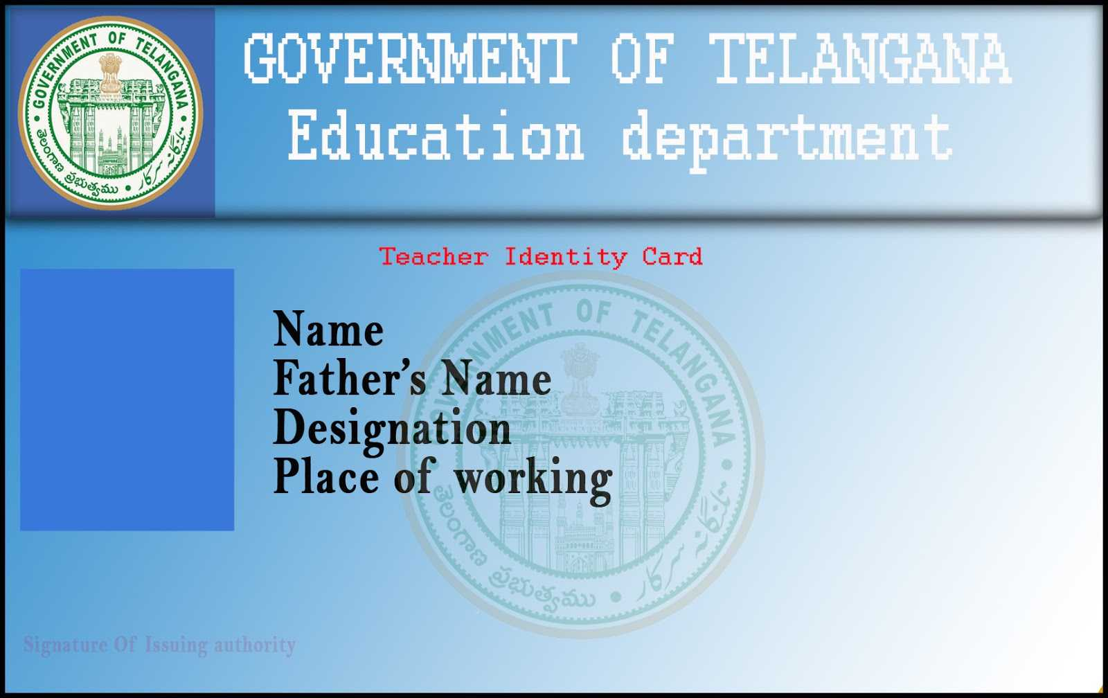 T R C : Employee Id Card Template within Teacher Id Card Template