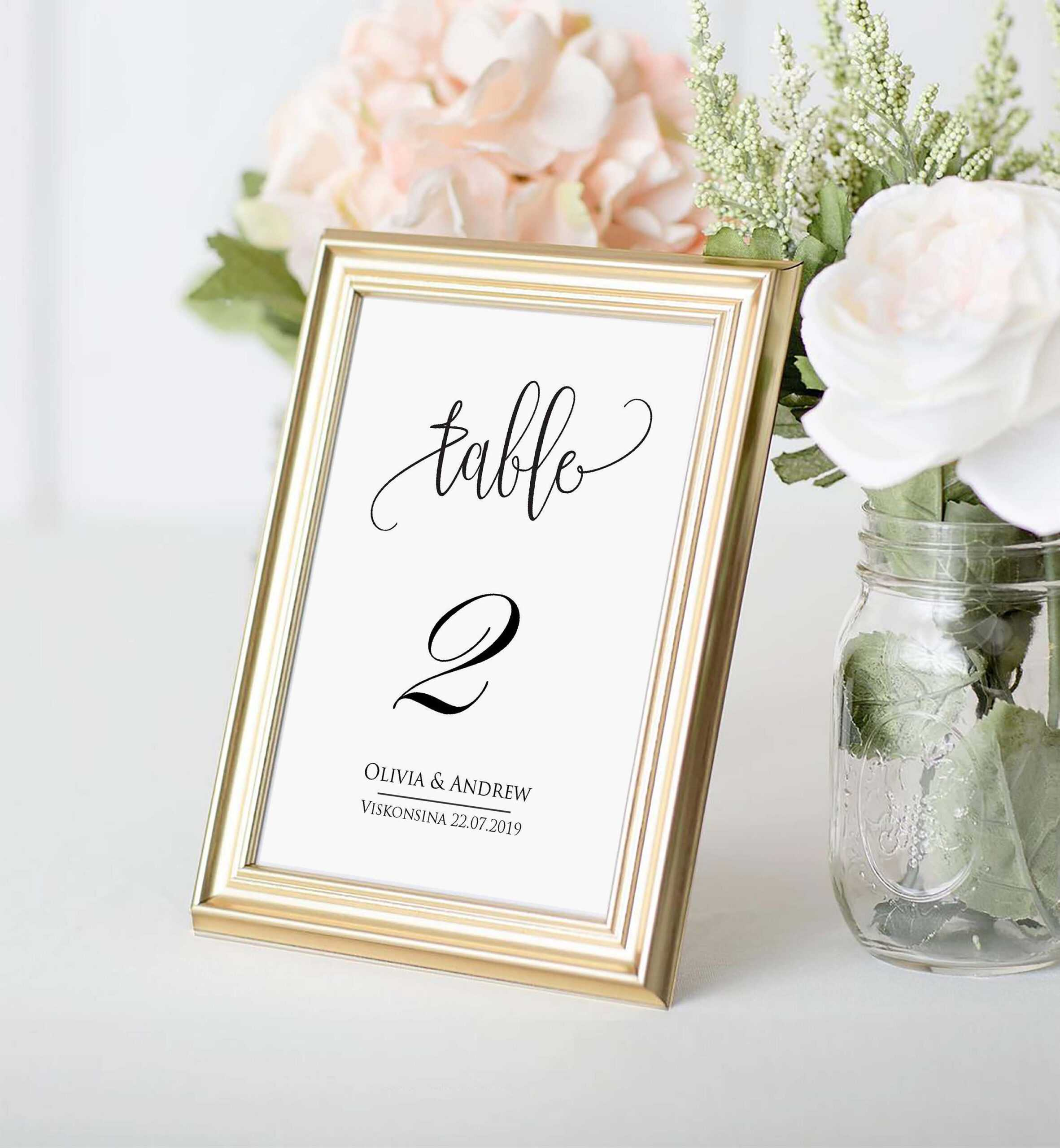 Table Number Card Template, Table Number Cards, Editable, Instant  Download,printable Wedding Table Number, Diy Reception Table Card Swtc114 With Table Number Cards Template