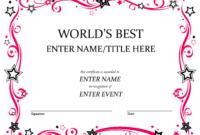 Talent Show Award | Award Certificates, Certificate throughout Best Employee Award Certificate Templates