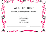 Talent Show Award | Award Certificates, Certificate with regard to Fun Certificate Templates