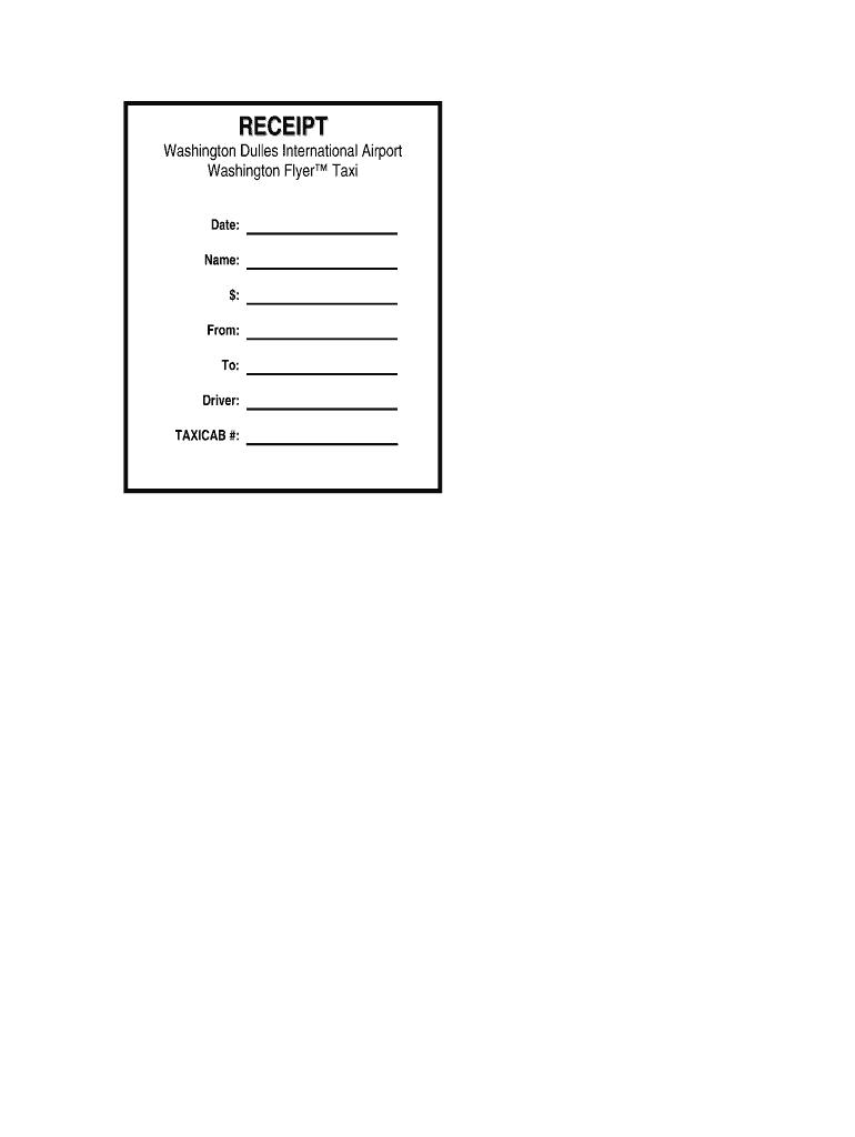 Taxi Receipt Generator - Fill Online, Printable, Fillable regarding Blank Taxi Receipt Template