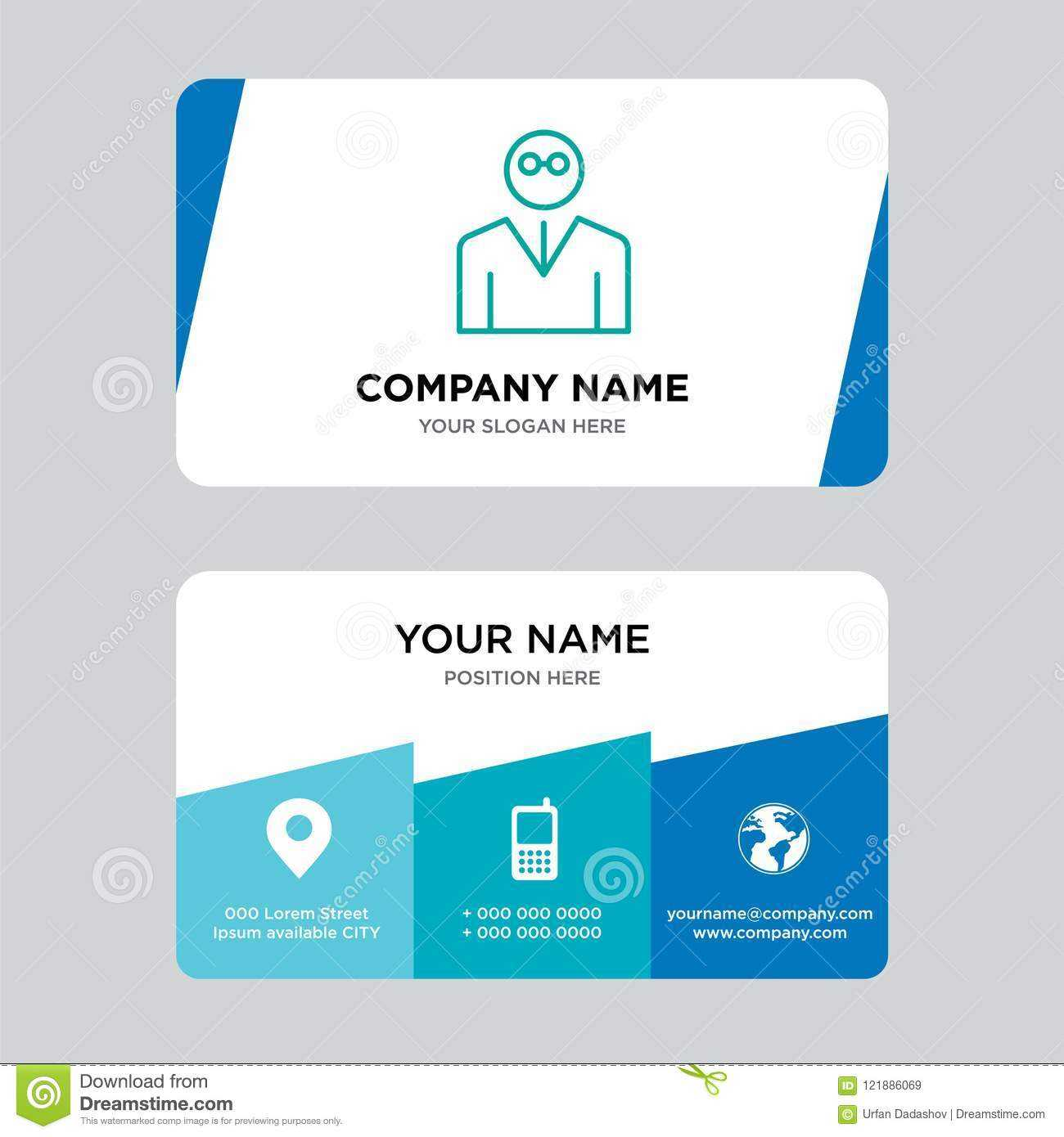 Teacher Business Card Design Template, Visiting For Your with regard to Teacher Id Card Template