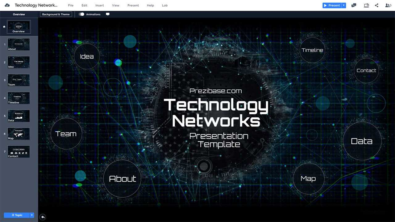 Tech Template - Magdalene-Project within High Tech Powerpoint Template