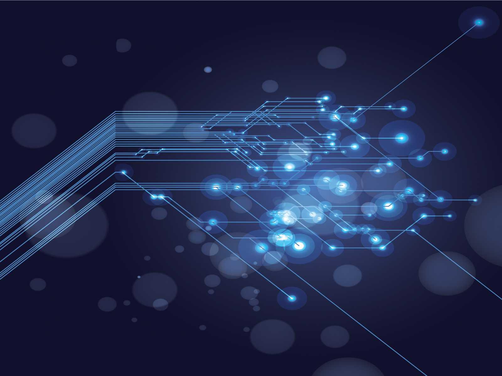 Technology Design Powerpoint Templates - Black, Blue pertaining to High Tech Powerpoint Template