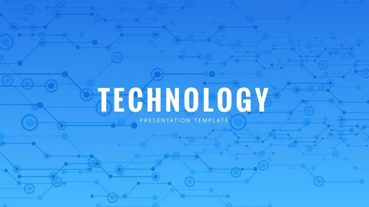 Technology Powerpoint Template - Free Powerpoint Presentation Inside High Tech Powerpoint Template