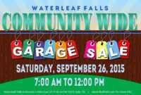 Template: Community Garage Sale Falls Flyer Template pertaining to Garage Sale Flyer Template Word