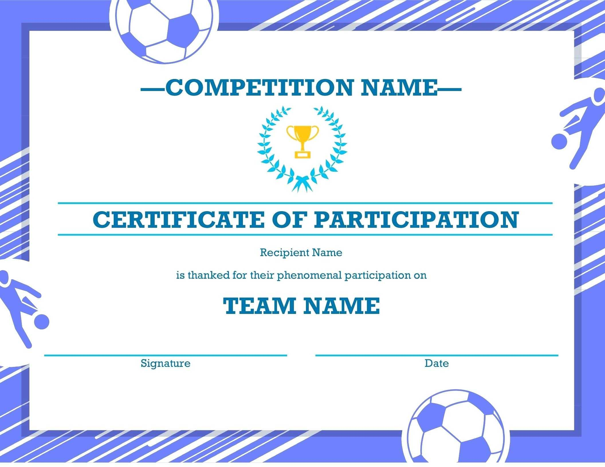 Template: Football Certificate Templates Majestic Award with regard to Soccer Certificate Templates For Word