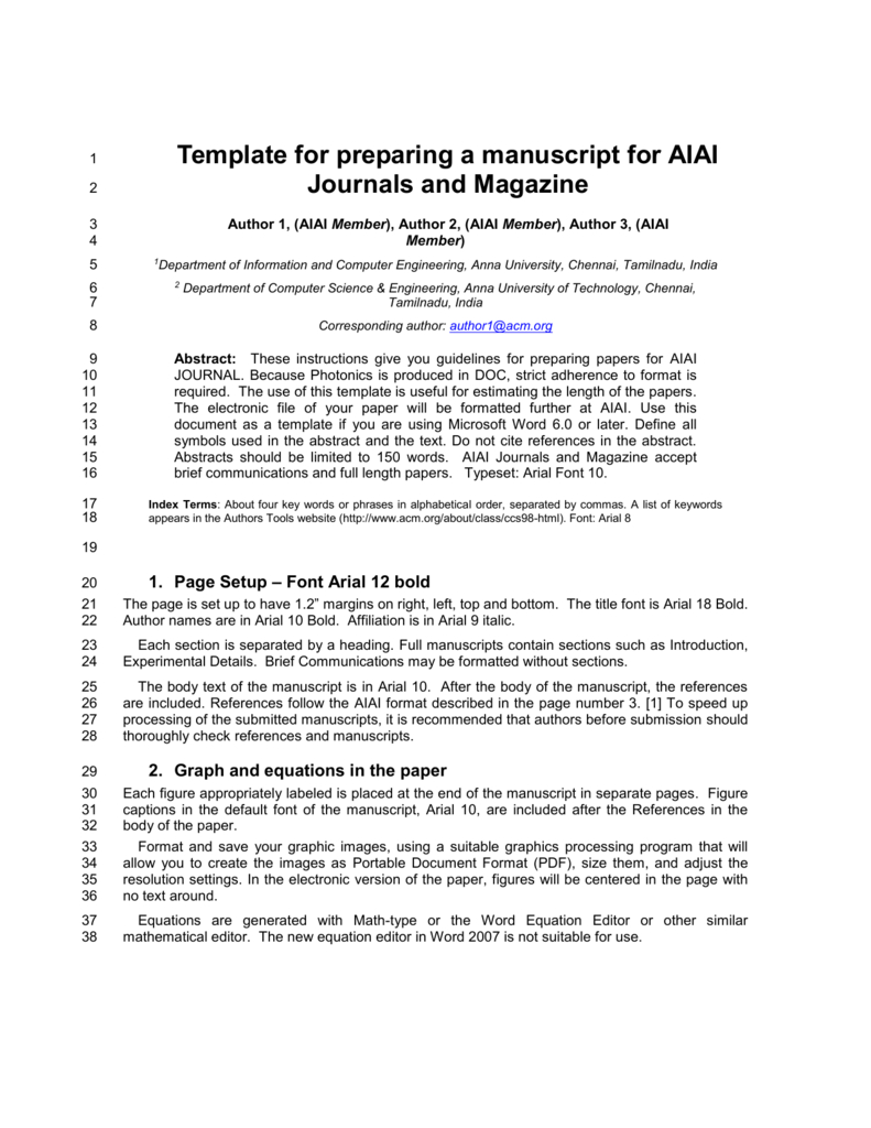 Template For Preparing A Manuscript For Ieee Photonics Journal in Ieee Template Word 2007
