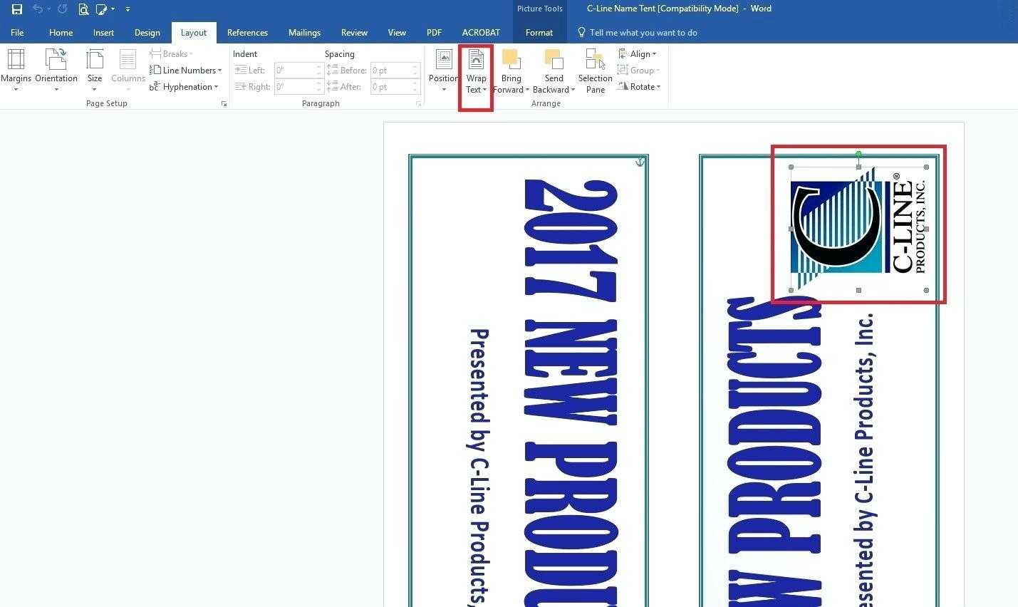 Template: How To Create Large Name Tent Cards C Line pertaining to Free Tent Card Template Downloads