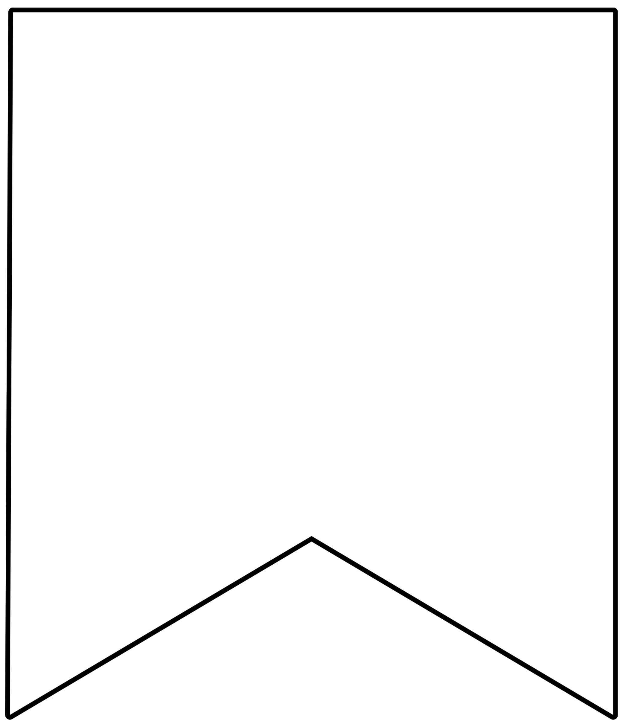 Template Printable Pennant Banner - Epp Acp   Free For Printable Pennant Banner Template Free