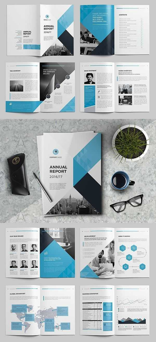 The Annual Report Template #brochure #template #indesign For Annual Report Template Word Free Download