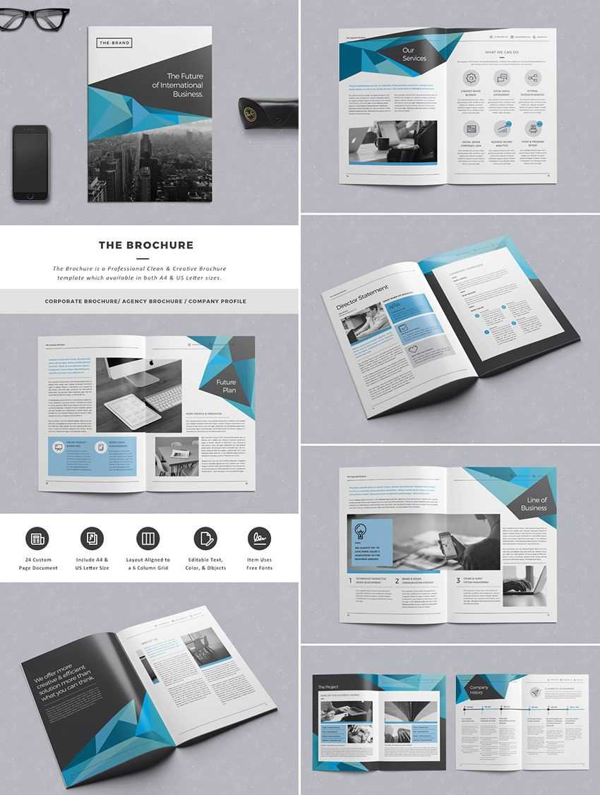 The Brochure - Indd Print Template | Brochure Template For Brochure Templates Free Download Indesign