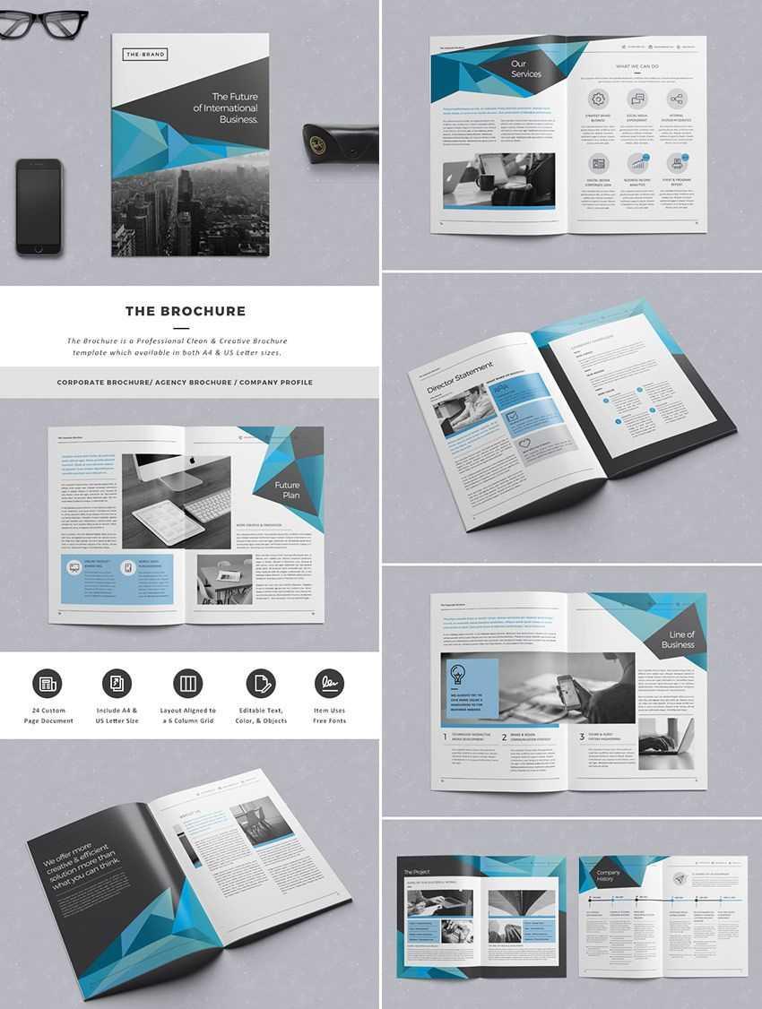 The Brochure - Indd Print Template | Brochure Template In Brochure Template Indesign Free Download