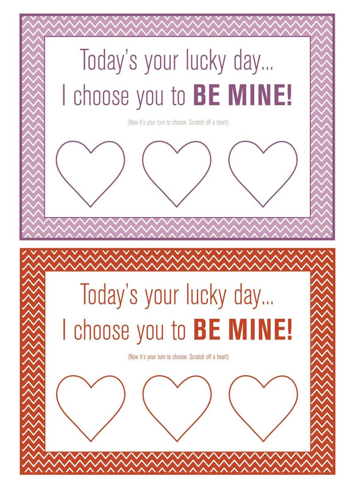 The Story Of Pat And Lindsay: Diy Scratch-Off Valentine with Scratch Off Card Templates