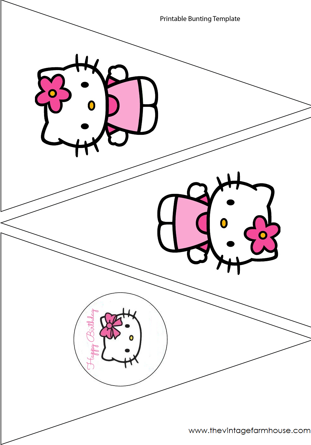 The Vintage Farmhouse: Hello Kitty Party & Free Printables With Hello Kitty Banner Template