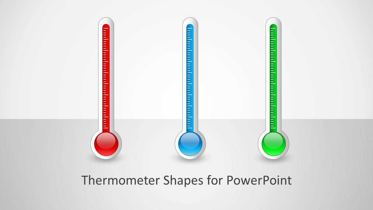 Thermometer Shapes For Powerpoint Inside Thermometer Powerpoint Template
