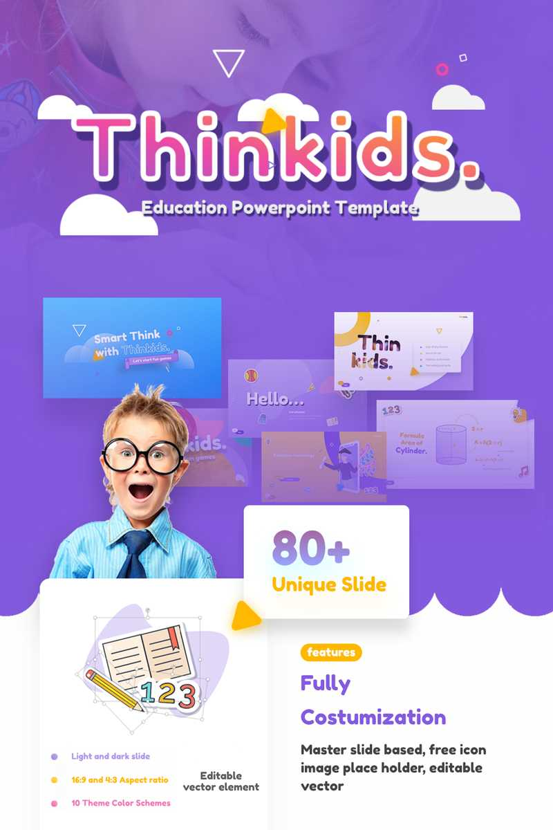 Thinkids - Fun Games & Education Powerpoint Template Intended For Powerpoint Template Games For Education