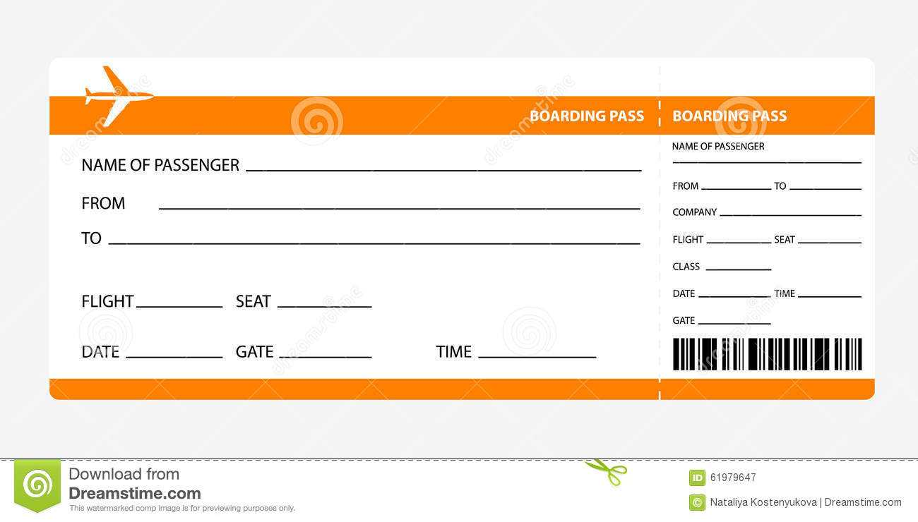 Ticket Template Word Free - Major.magdalene-Project for Plane Ticket Template Word