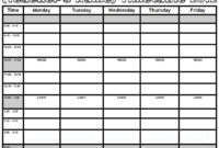 Timetables Templates – Major.magdalene-Project inside Blank Revision Timetable Template