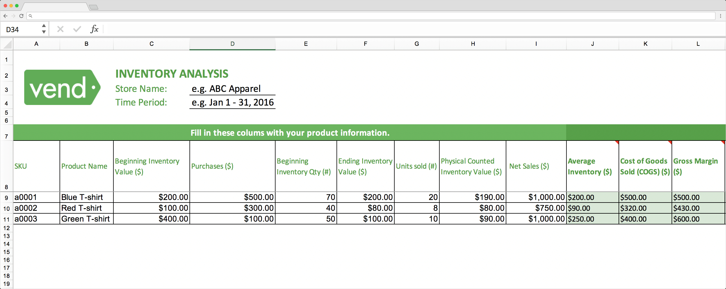 Top 10 Inventory Excel Tracking Templates - Sheetgo Blog within Stock Report Template Excel