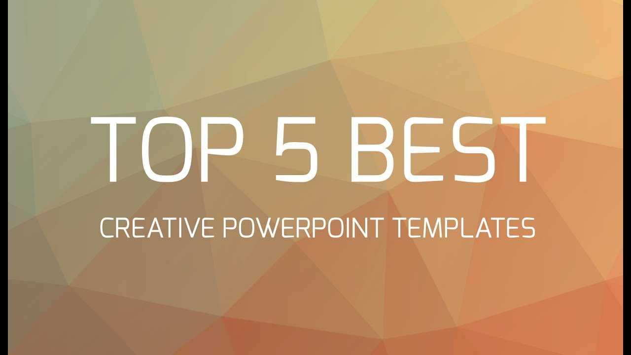 Top 5 Best Creative Powerpoint Templates Regarding Fancy Powerpoint Templates