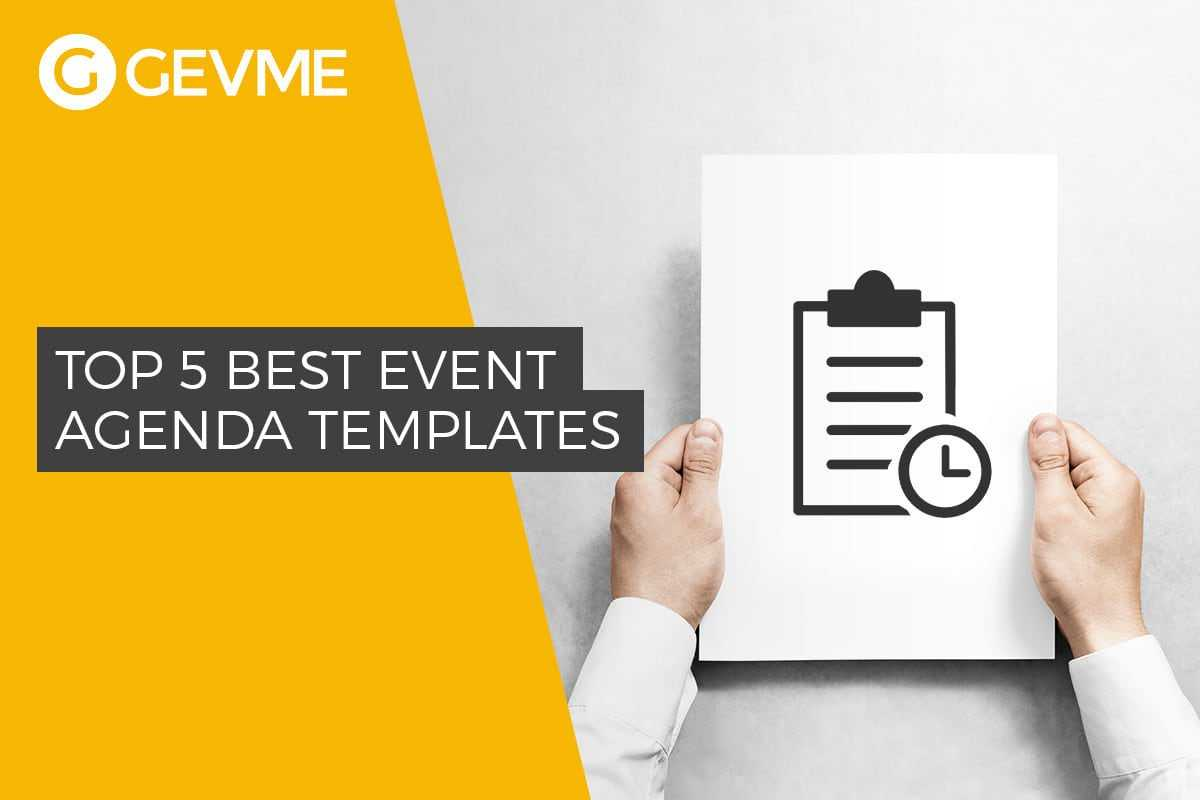 Top 5 Best Event Agenda Templates throughout Free Event Program Templates Word
