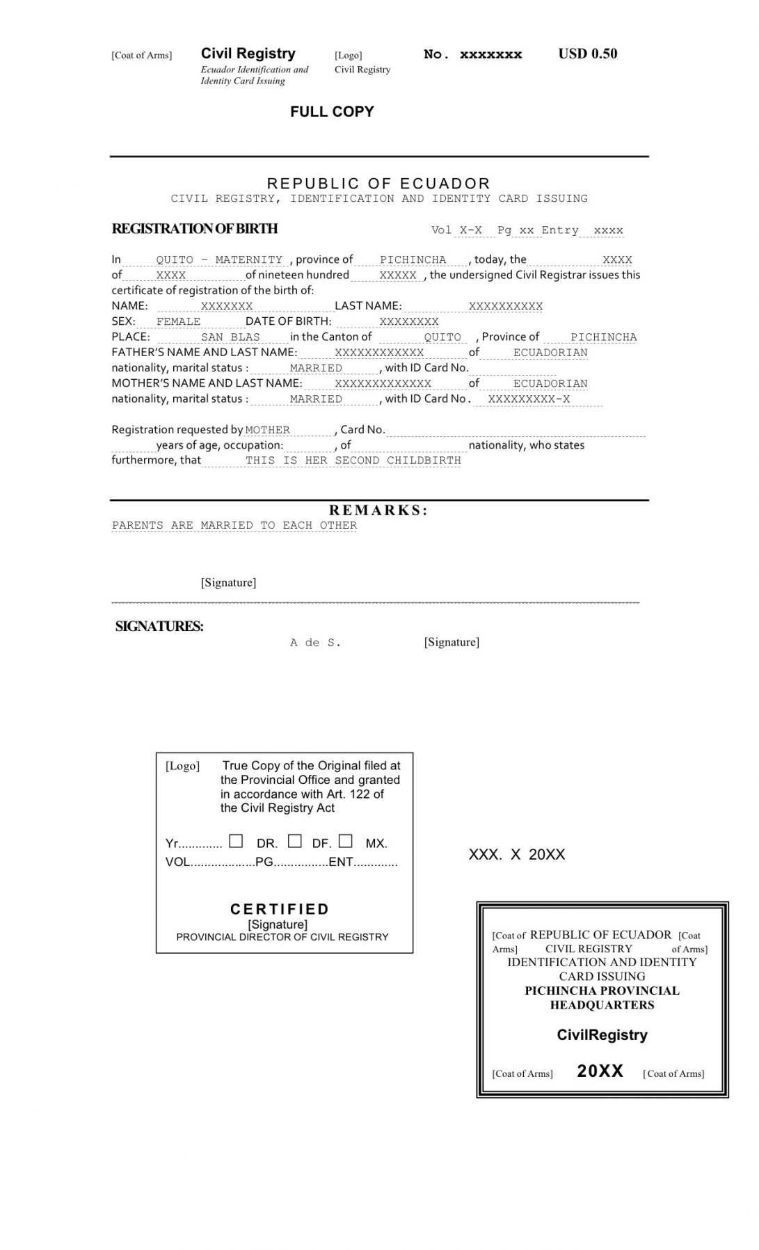 Translate Mexican Birth Certificate A To English Template within Birth Certificate Translation Template