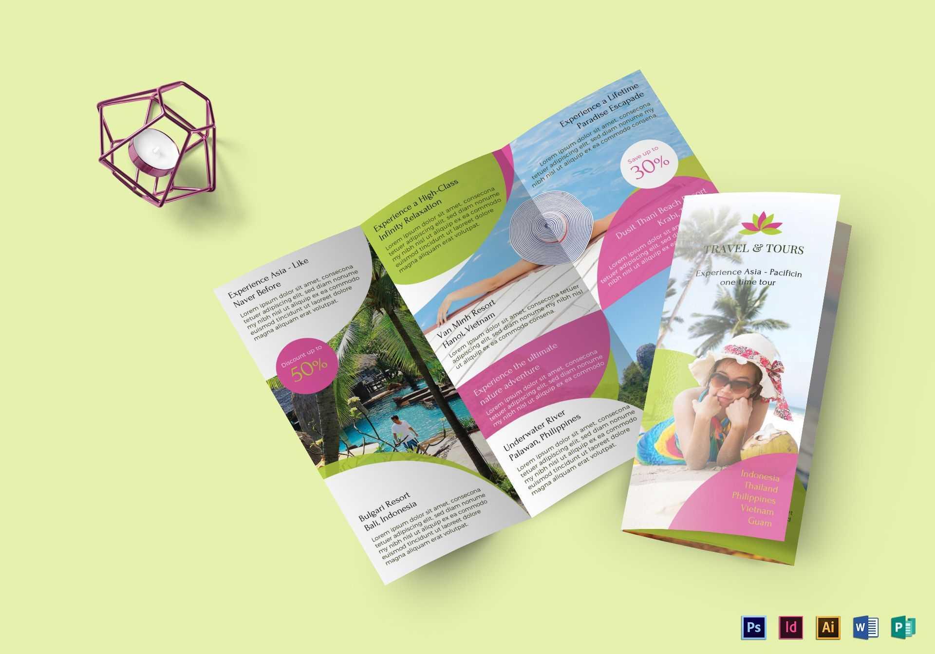 Travel And Tour Brochure Template regarding Word Travel Brochure Template