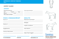 Travel Confidently   News At Cummings School Of Veterinary throughout Horse Stall Card Template