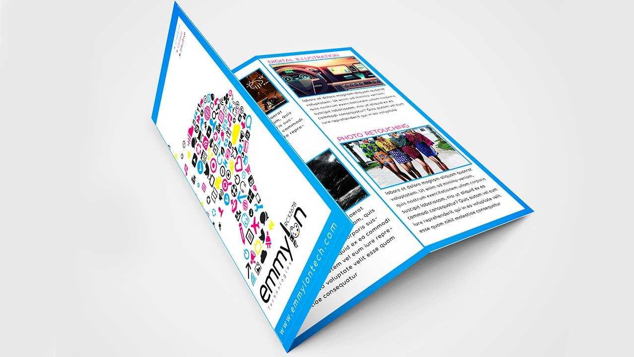 Tri Fold Brochure Design Layout   Adobe Illustrator (#speedart) In Adobe Illustrator Tri Fold Brochure Template