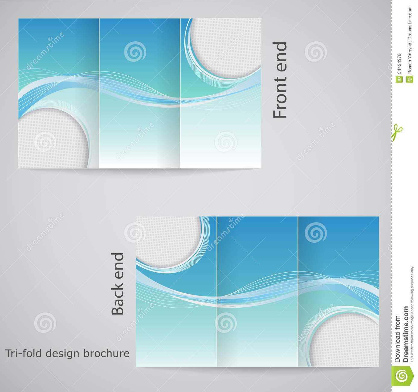Tri-Fold Brochure Design. Stock Vector. Illustration Of in Free Three Fold Brochure Template
