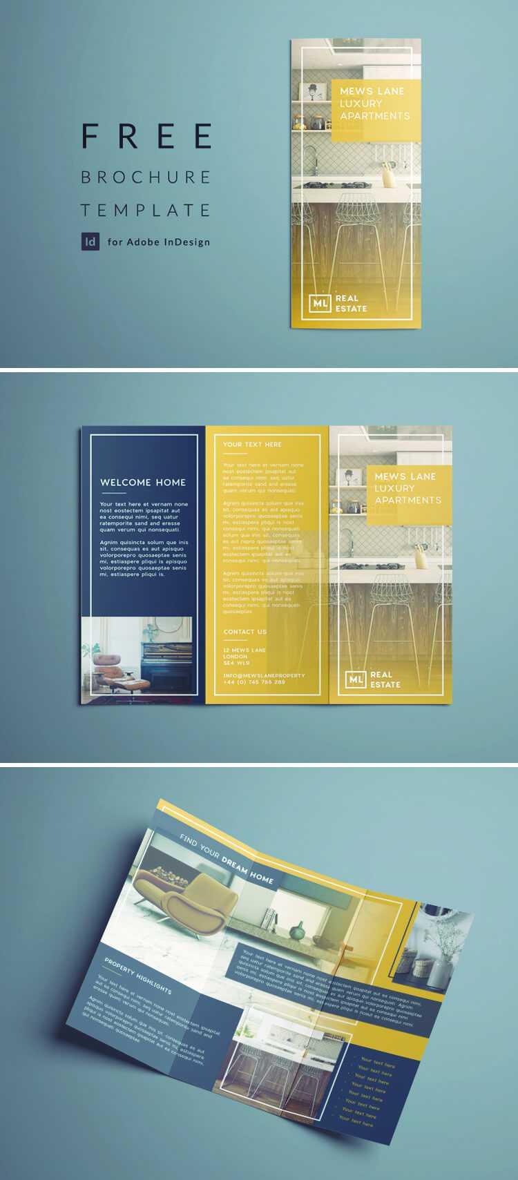 Tri Fold Brochure | Free Indesign Template Inside Tri Fold Brochure Template Indesign Free Download