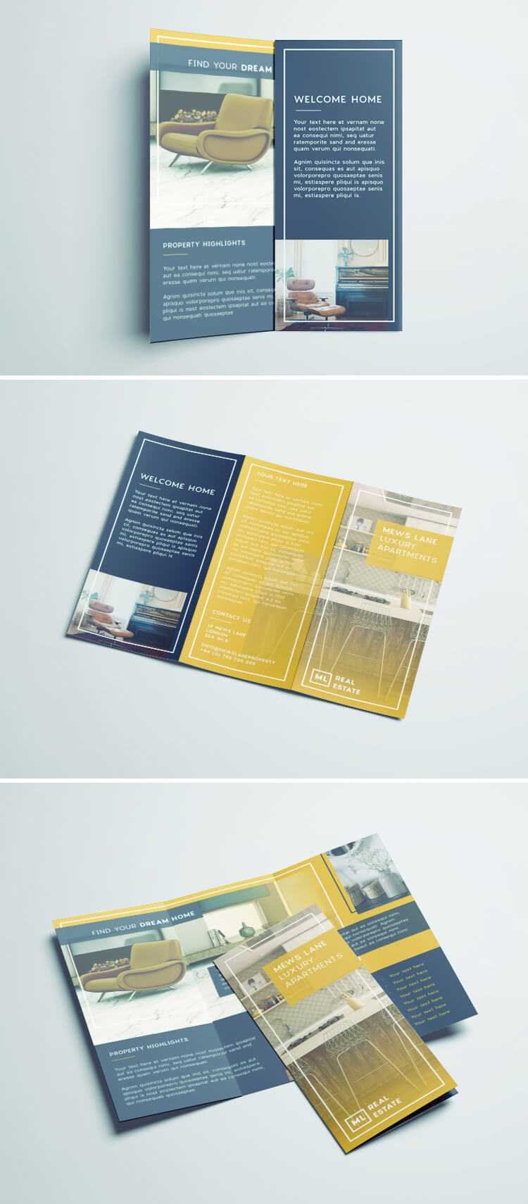 Tri Fold Brochure | Free Indesign Template intended for Tri Fold Brochure Template Indesign Free Download