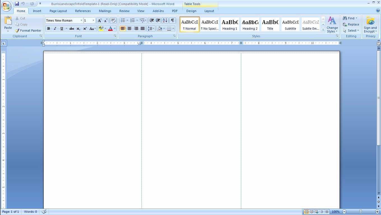 Tri Fold Brochure Indesign regarding Brochure Template On Microsoft Word