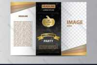 Tri-Fold Brochure Template For Halloween Party pertaining to Brochure Template Illustrator Free Download