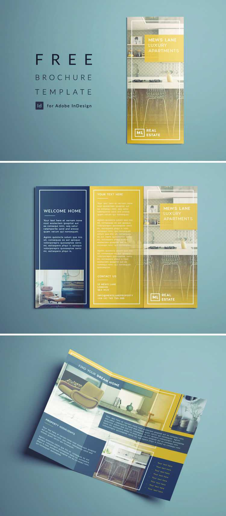 Tri Fold Brochure Template Indesign Free Download pertaining to Brochure Template Indesign Free Download