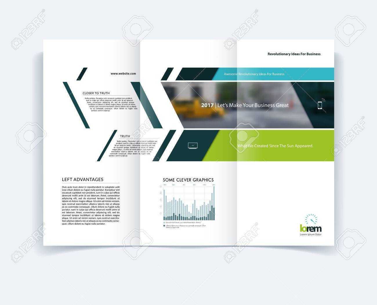 Tri-Fold Brochure Template Layout, Cover Design, Flyer In A4.. throughout Engineering Brochure Templates