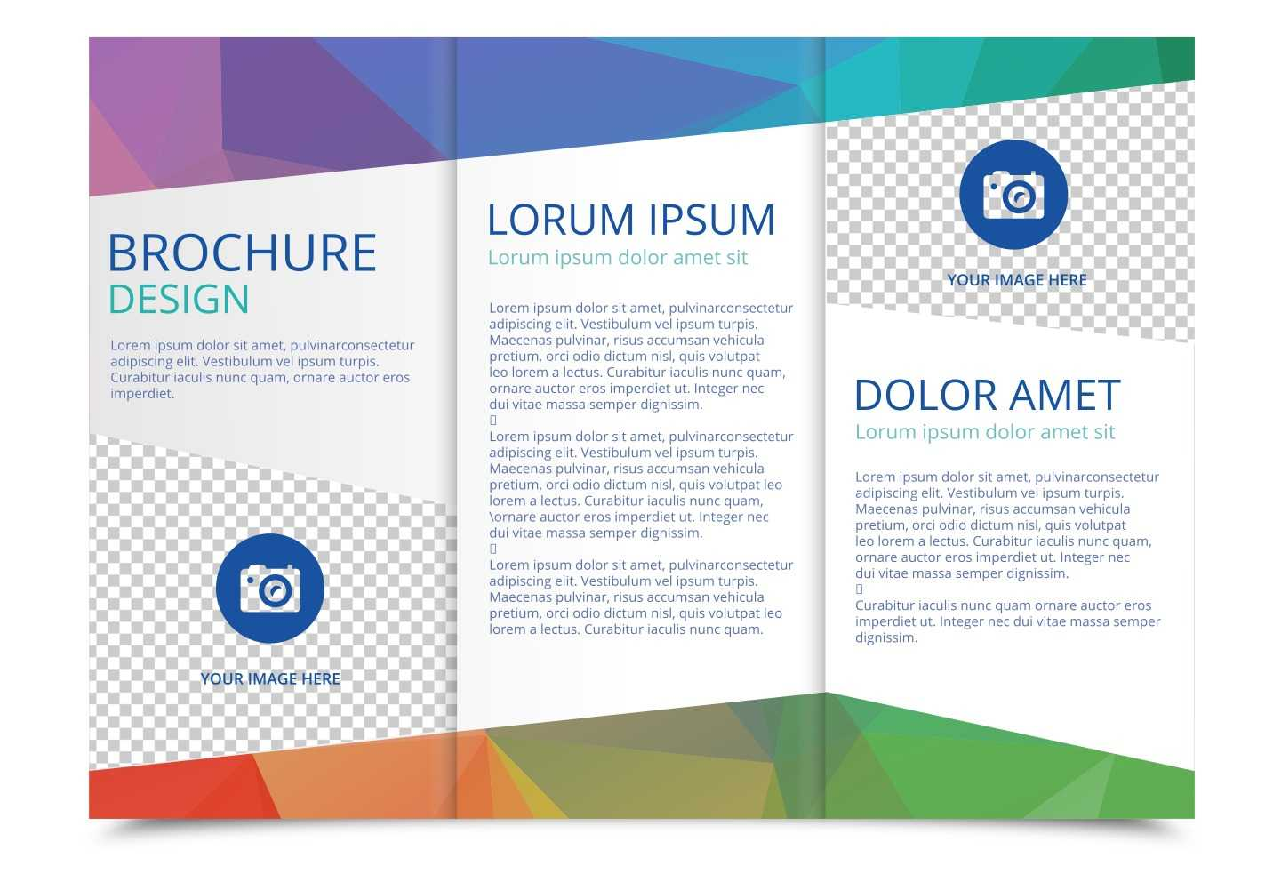 Tri Fold Brochure Vector Template - Download Free Vectors regarding Free Three Fold Brochure Template