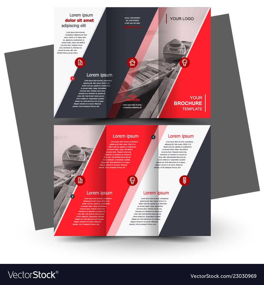 Tri-Fold Red Brochure Design Template pertaining to Free Three Fold Brochure Template