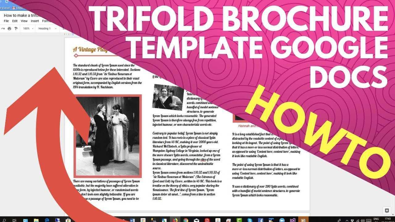 Trifold Brochure Template Google Docs regarding Google Docs Templates Brochure